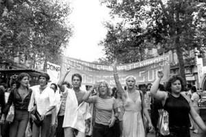 La primera manifestació gai a Catalunya