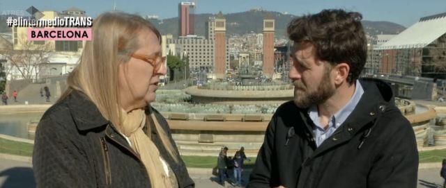 """Fina Campàs entrevistada pel reporter Gonzo del programa """"El Intermedio"""""""