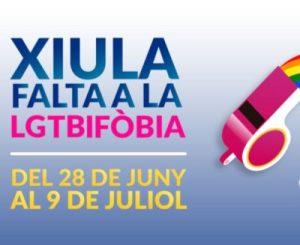 """""""Xiula falta a la LGTBIFÒBIA"""". Eslògan del Pride Barcelona 2017"""