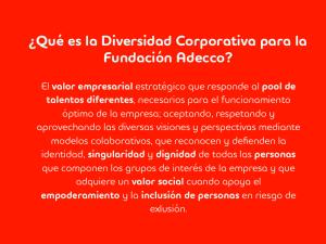 La Diversidad Corporativa para la Fundación Adecco