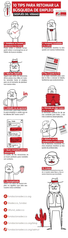 10 tips para retomar la búsqueda de empleo