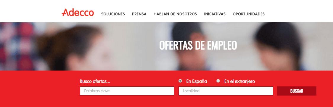 OFERTAS DE EMPLEO EN LA FUNDACIÓN ADECCO