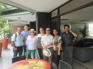 Santander Beleño, Pedro Duran, Annie Marshall, Jose Luis Cañavate, Eliana Mendoza y Pablo Gamboa