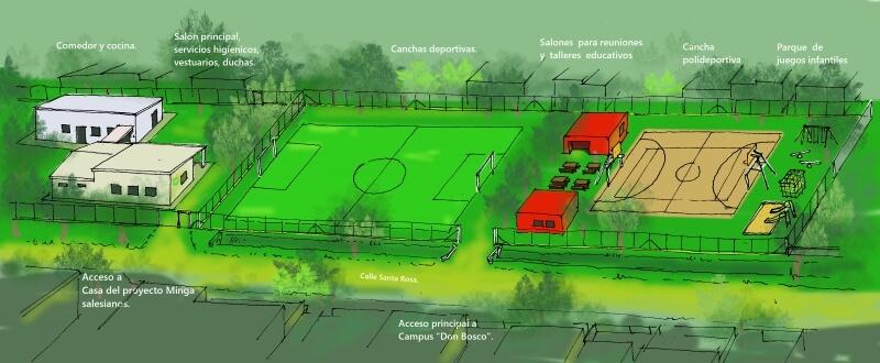 Campus deportivo Don Bosco.