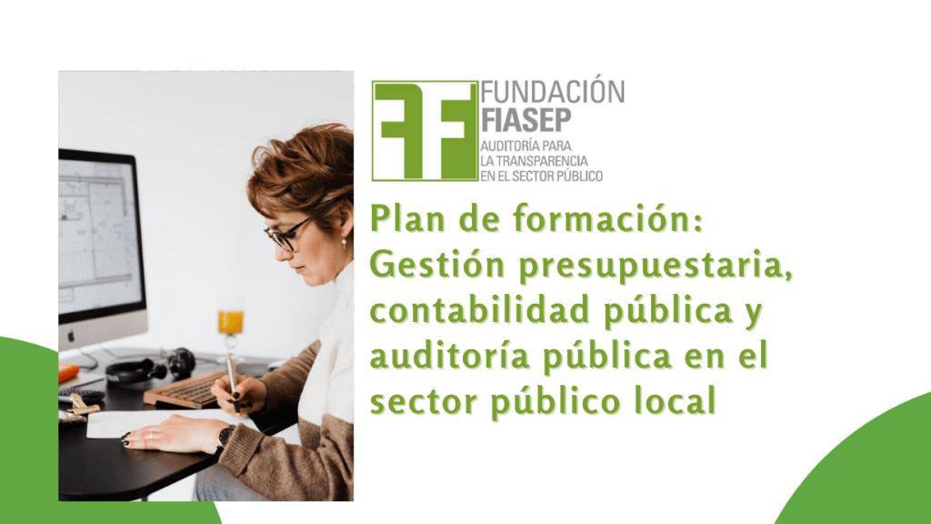 """Plan de formación: """"Gestión presupuestaria, contabilidad pública y auditoría pública en el sector público local"""""""