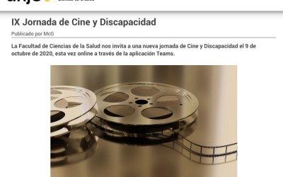 Participamos en las IX Jornadas de Cine y discapacidad