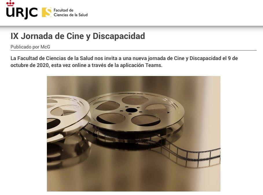 IX jornada cine y discapacidad URJC