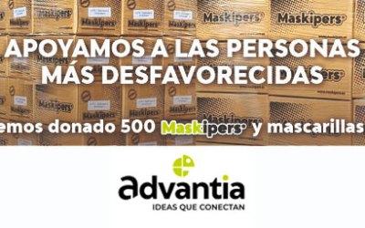 Donación de material de protección contra el Covid19 de Advantia