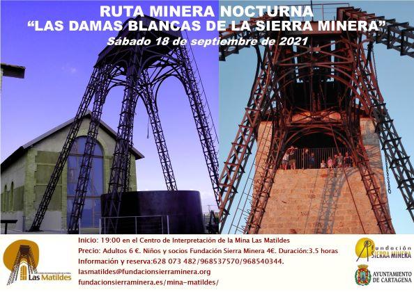 Visita y ruta nocturna a las Damas Blancas de la Sierra Minera