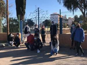 Varios de los participantes de los talleres de competencias para el empleo en el Parque de Seguridad Vial de La Unión