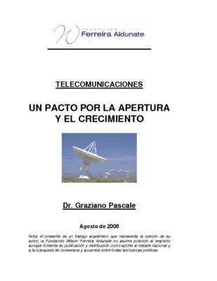 un Pacto Por la Apertura Y el Crecimiento Telecomunicaciones