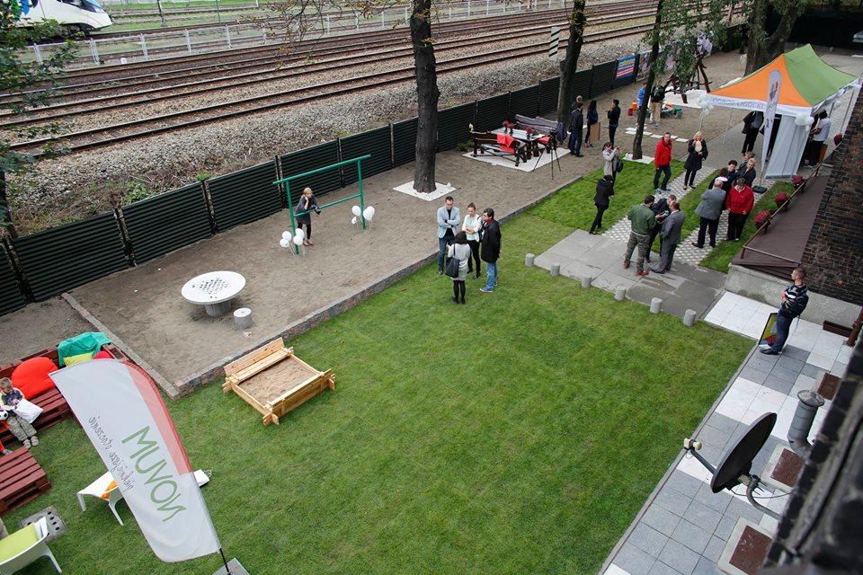 ogród społeczny plac na glanc Czarnieckiego - widok z góry po remoncie