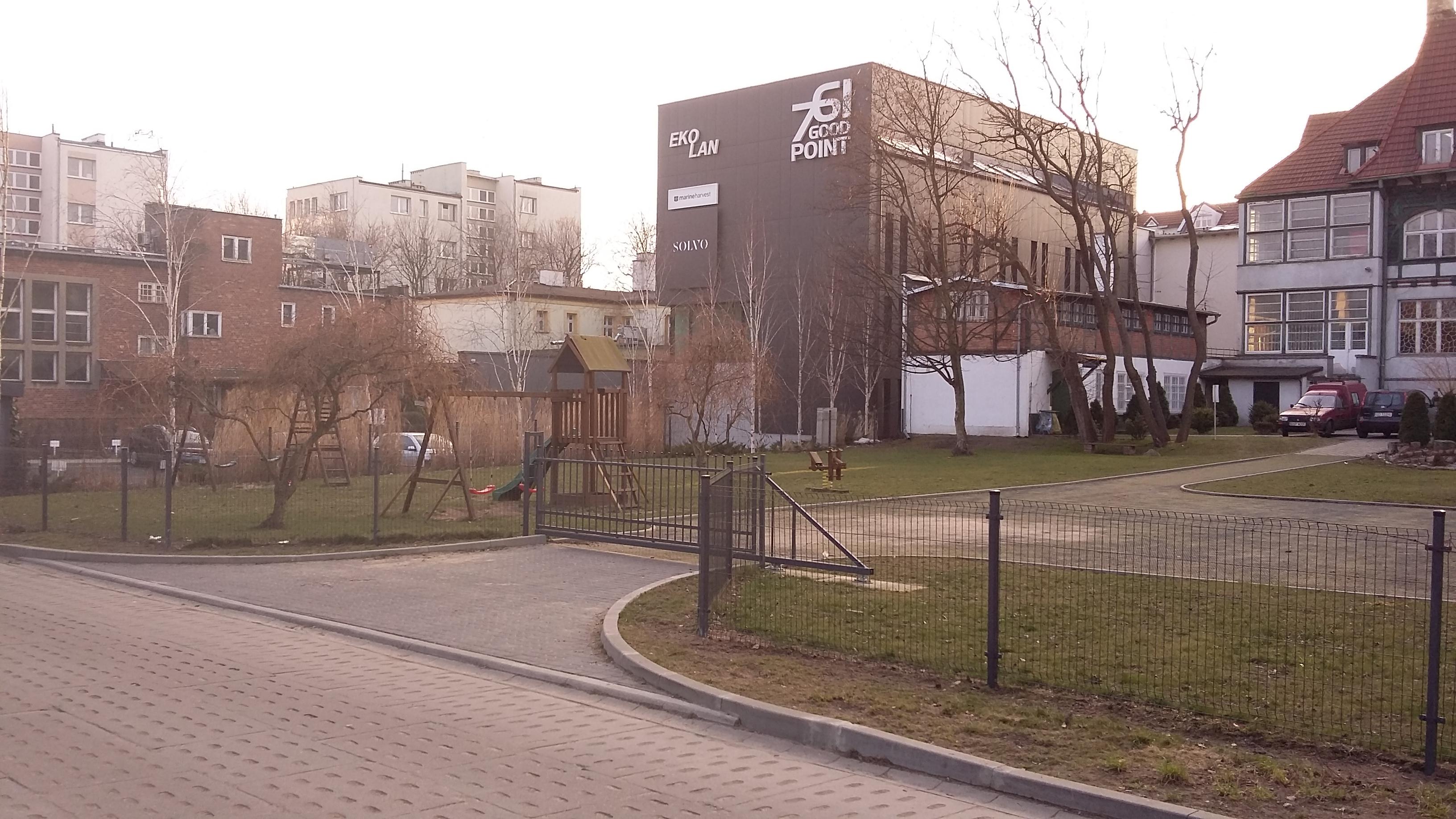 teren pod ogród społeczny w sopocie - widok z oddali