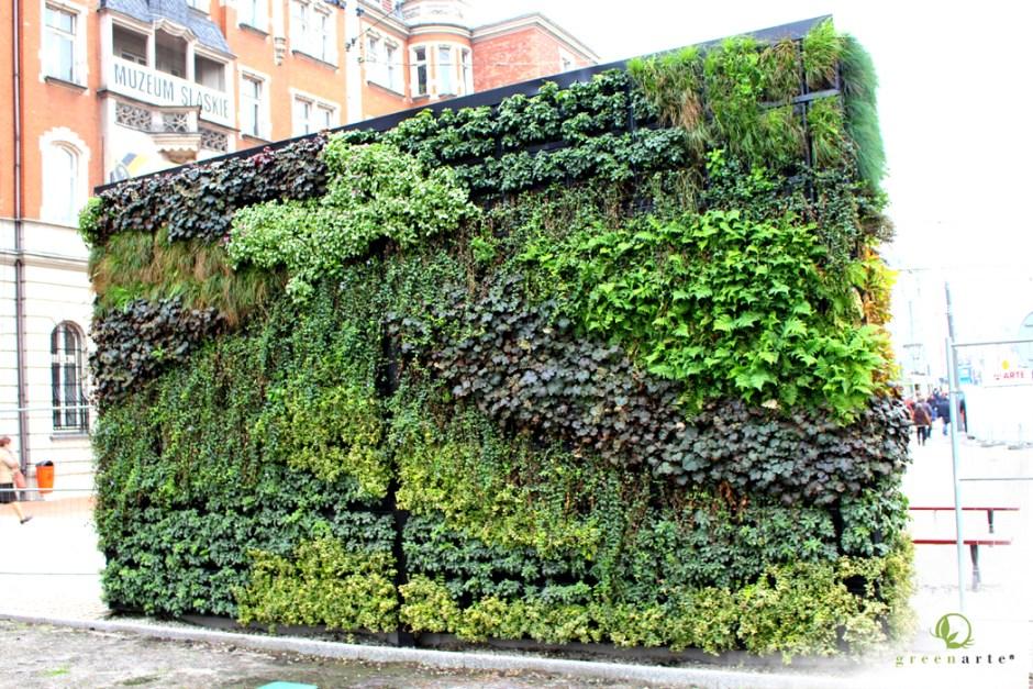 Katowice rynek zielona ściana