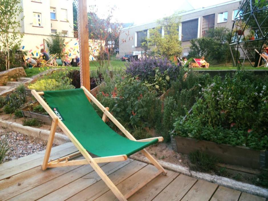 ogród skrzynkowy - drewniane skrzynie ogrodowe, uprawa ziół & leżak ogrodowy Lech