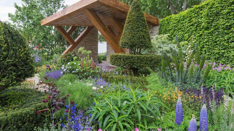 jeden z ogrodów chelsea 2017