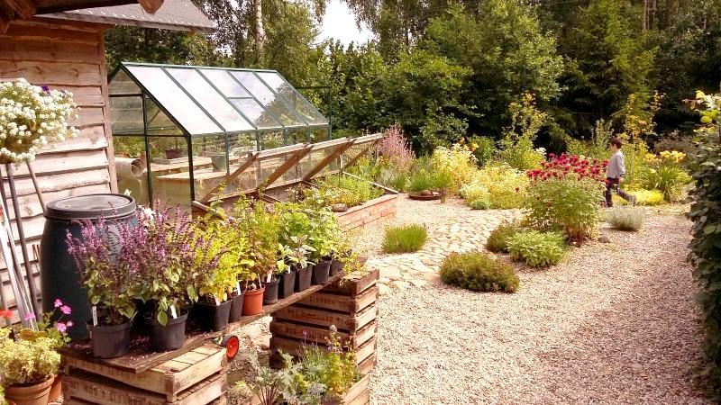 szklarnia ogrodowa, żwirek ogrodowy