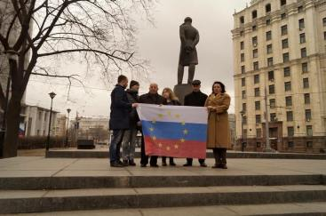 Od lewej: Aleksiej Domnikov, Siergiej Kesler, Walery Tsaturow, Jekatierina Maldon, Igor Szarapow, Irina Bołdyriewa