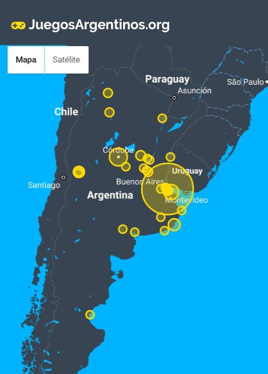 Argentina Videojuegos mapa