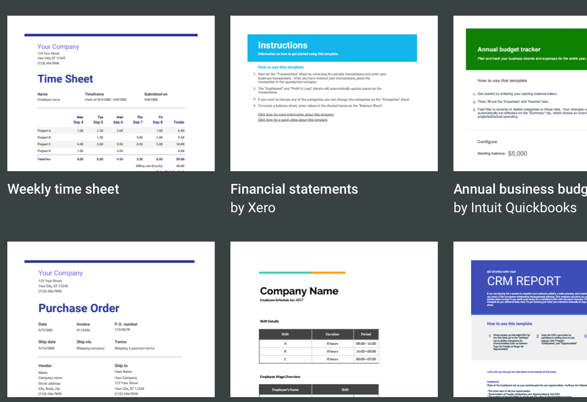 7+ Free Small Business Budget Templates | Fundbox Blog