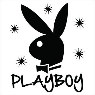 Playboy Bunny Stars Vinyl Sticker for your wall, car or