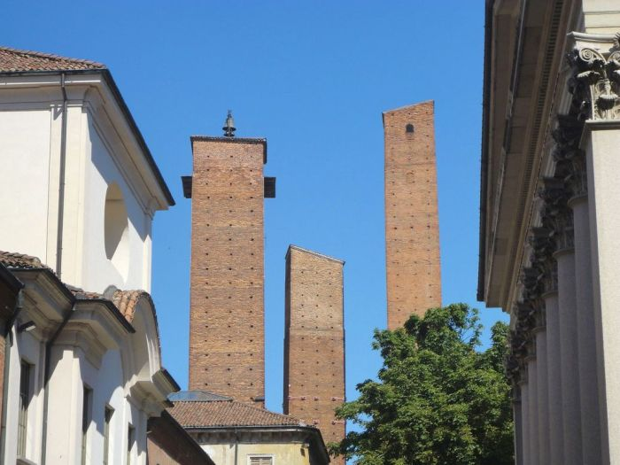 Standing tall. Medieval Towers. Pavia, Italy