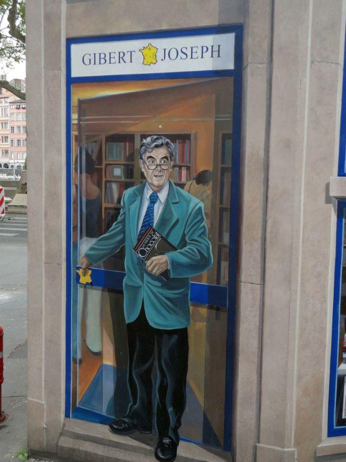 Bernard Pivot. La Fresque des Lyonnais, Lyon, France