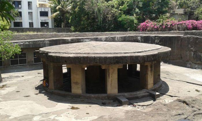 Nandi Mandapa. Pataleshwar Temple, Pune.