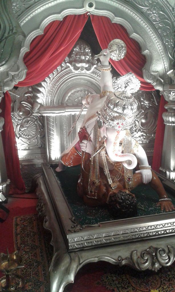 Fierce Ganesha. Ganesh Chaturthi, Pune, India