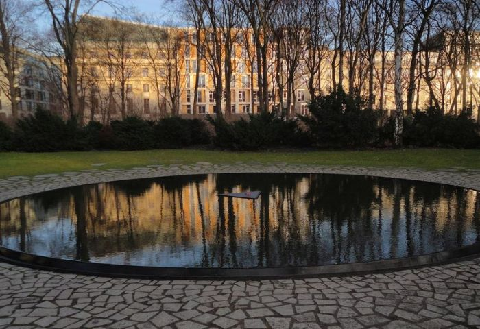 Memorial to the Sinti and Roma of Europe. Berlin, Germany