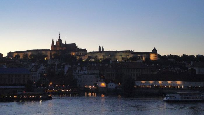Showtime! The Prague Castle at sundown. Czech Republic.
