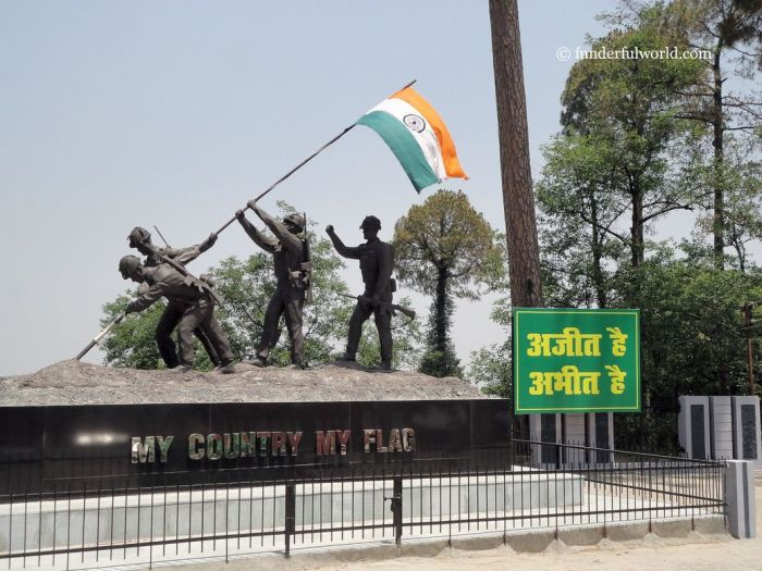 My Country, My Flag. The cantonment town of Ranikhet. Uttarakhand, India.