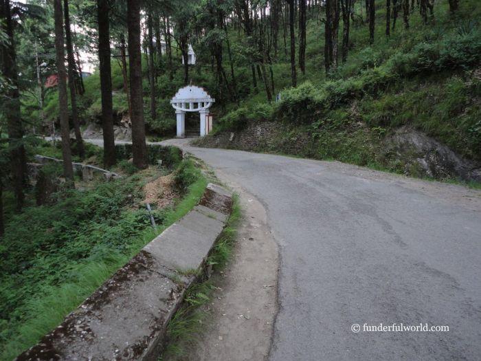 Walking toward IVRI. Mukteshwar, Uttarakhand, India.