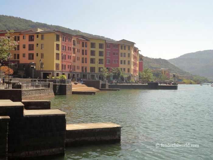 A touch of Europe. Waterfront at Lavasa, Maharashtra, India.