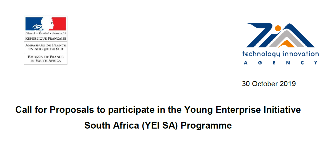 Young Enterprise Initiative South Africa(YEI SA) Programme 2020 for South African Start-up(Fully Funded to France)