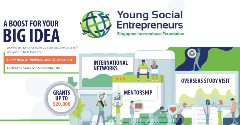 Young Social Entrepreneurs 2020 in Singapore(Partially Funded)