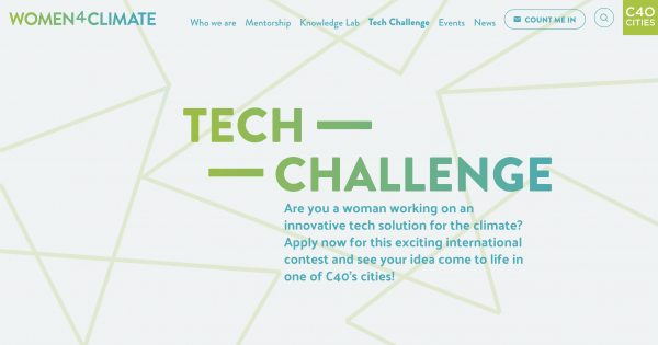2nd C40 Women4Climate Tech Challenge