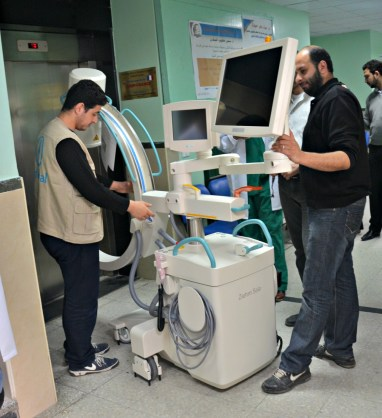 Providing X-ray machines to Gaza hospitals