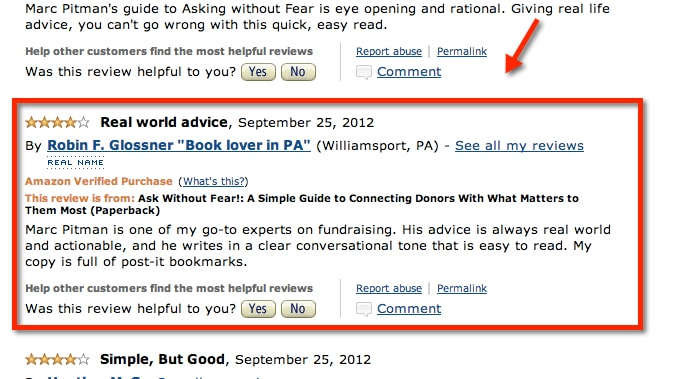 Picture of Robin Glossner's review of Ask Without Fear