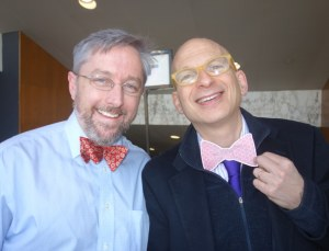 a picture of Seth Godin & Marc at The Icarus Presentation at MIT