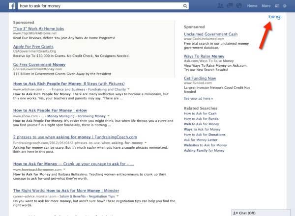 Bing on Facebook - nonprofits beware!