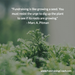 Fundraising is like growing a seed.