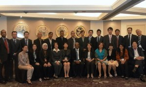 Attendees at the 3rd capacity building training, Singapore, August 2011