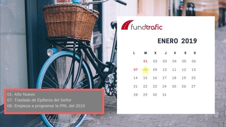 calendario PRL 2019