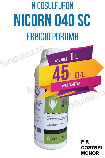 erbicid porumb NICORN 040 SC, 1 L, nicosulfuron, Compania Seminte Fundulea
