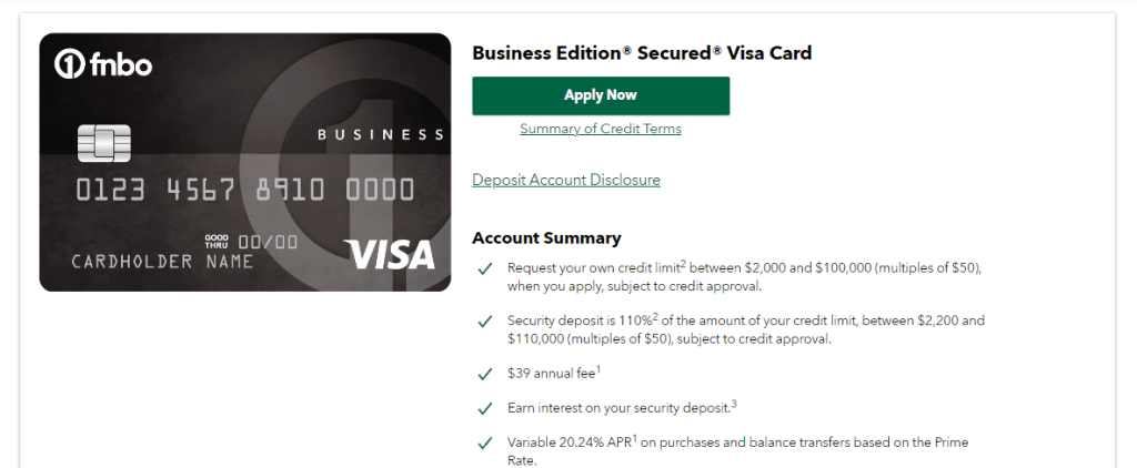 Credit Cards For Bad Credit Business