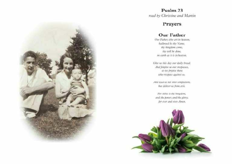 Artboard 2funeral order of service booklet front cover examples