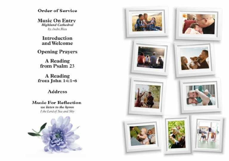 Artboard 8funeral order of service booklet front cover examples