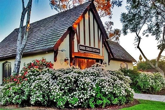 Rose Creek Cottage is a lovely English Tudor cottage
