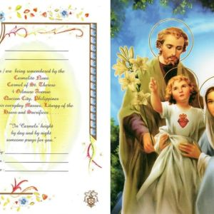holy family mass card online